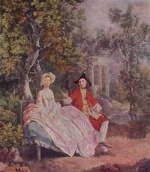 Thomas Gainsborough - paintings - Conversation in a Park