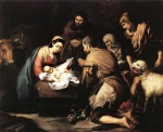 Francisco de Zurbaran - Bilder Gemälde - Adoration of the Shepherds