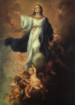 Bartolome Esteban Perez Murillo - Bilder Gemälde - Assumption of the Virgin