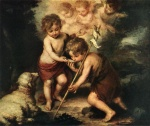 Bartolome Esteban Perez Murillo - Bilder Gemälde - Children with Shell