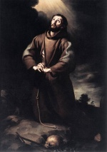 Bartolome Esteban Perez Murillo - Bilder Gemälde - St Francis of Assisi at Prayer