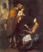 Bartolome Esteban Perez Murillo - Bilder Gemälde - The Holy Family