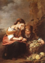 Bartolome Esteban Perez Murillo - Bilder Gemälde - The Little Fruit Seller
