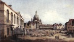 Bernardo Bellotto - Bilder Gemälde - New Market Square in Dresden from the Juedenhof