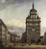Bernardo Bellotto - Bilder Gemälde - The Kreuzkirche in Dresden
