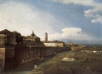 Bernardo Bellotto  - Bilder Gemälde - View of Turin near the Royal Palace