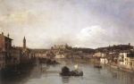 Bernardo Bellotto  - Bilder Gemälde - View of Verona and the River Adige from the Ponte Nuovo