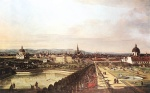 Bernardo Bellotto  - Bilder Gemälde - View of Vienna from the Belvedere