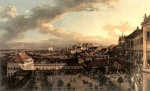 Bernardo Bellotto  - Bilder Gemälde - View of Warsaw from the Royal Palace