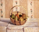 Camille  Pissarro  - paintings - Apples and Pears in a Round Basket
