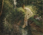 Camille  Pissarro  - paintings - Bather in the Woods