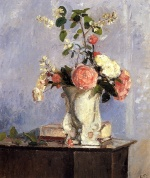 Camille  Pissarro  - paintings -  Bouquet of Flowers