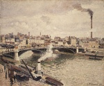Camille  Pissarro  - paintings - Morning (An Overcast Day in Rouen)