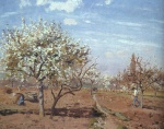 Camille  Pissarro  - paintings - Orchard in Bloom at Louveciennes