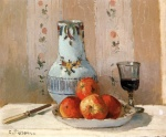 Camille  Pissarro  - paintings - Still Life with Apples and Pitcher