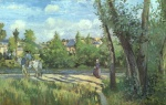 Camille  Pissarro  - paintings - Sunlight on the Road (Pontoise)
