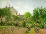 Camille  Pissarro  - paintings - The Artists Garden at Eragny
