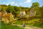 Camille  Pissarro  - paintings - The Hermitage at Pontoise