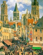 Camille  Pissarro  - paintings - The Old Market at Rouen