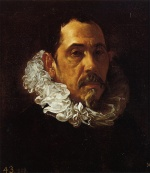 Diego Velazquez  - Bilder Gemälde - Portrait of a Man with a Goatee