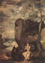 Diego Velazquez  - Bilder Gemälde - Sts Paul the Hermit and Anthony Abbot