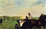 Edgar Degas  - Bilder Gemälde - A Carriage at the Races