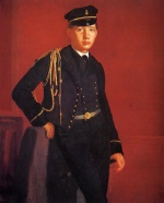 Edgar Degas  - Bilder Gemälde - Achille De Gas in the Uniform of a Cadet