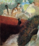 Edgar Degas  - Bilder Gemälde - At the Ballet