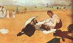 Edgar Degas  - Bilder Gemälde - At the Beach