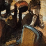 Edgar Degas  - Bilder Gemälde - At the Milliners