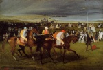 Edgar Degas  - Bilder Gemälde - At the Races (The Start)