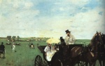 Edgar Degas  - Bilder Gemälde - At the Races in the Country