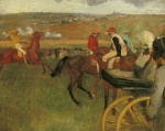 Edgar Degas  - Bilder Gemälde - At the Races, Gentlemen Jockeys