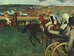 Edgar Degas  - Bilder Gemälde - At the Races