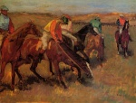 Edgar Degas  - Bilder Gemälde - Before the Race