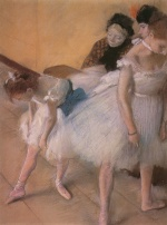 Edgar Degas  - Bilder Gemälde - Before the Rehearsal