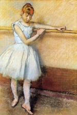 Edgar Degas  - Bilder Gemälde - Dancer at the Barre