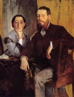 Edgar Degas  - Bilder Gemälde - Edmond and Therese Morbilli