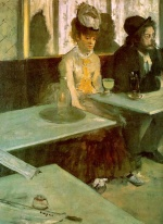 Edgar Degas  - Bilder Gemälde - In a Cafe