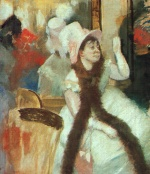 Edgar Degas  - Bilder Gemälde - Portrait after a Costume Ball
