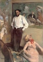 Edgar Degas  - Bilder Gemälde - Portrait of the Painter Henri Michel Levy