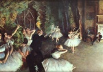 Edgar Degas  - Bilder Gemälde - Rehearsal on the Stage