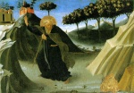 Fra Angelico  - Bilder Gemälde - Saint Anthony the Abbot Tempted by a Lump of Gold