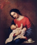 Francisco de Zurbaran - Bilder Gemälde - Madonna with Child