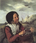 Frans Hals  - paintings - Fisher Girl