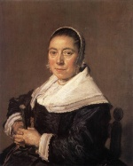 Frans Hals  - paintings - Portrait of a Seated Woman (presumedly Maria Vernatti)