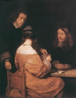 Gerhard ter Borch - Bilder Gemälde - Card Players