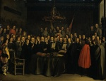 Gerhard ter Borch - Bilder Gemälde - The Ratification of the Treaty of Muenster