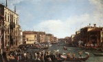Canaletto - paintings - A Regatta on the Grand Canal