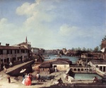 Canaletto - paintings - Dolo on the Brenta